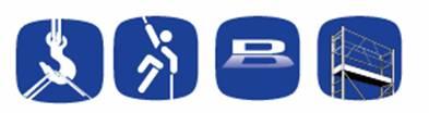 Symbolen voor valbeveiliging