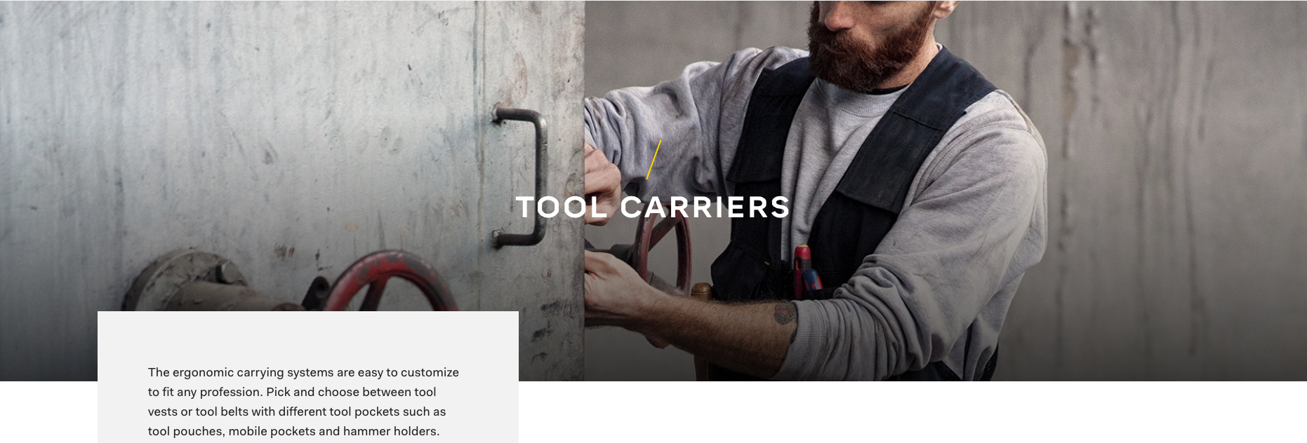 Snickers Tool Carriers