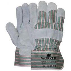 - Rundsplitlederen handschoen met palmversterking EN388