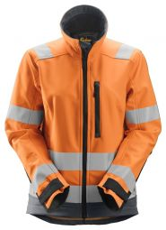 Snickers 1237 AllroundWork, High-Vis Softshell Damesjack Klasse 2/3