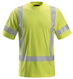 Snickers 2562 ProtecWork, T-shirt Korte Mouwen, High-Vis Klasse 3