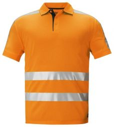 Snickers 2633 High Vis A.V.S Polo Shirt, Klasse 2/3