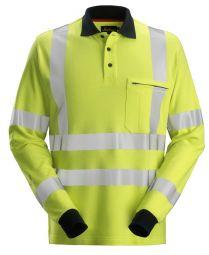 Snickers 2661 ProtecWork, Poloshirt met Lange Mouwen, High-Vis Klasse 3