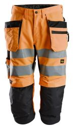 Snickers 6134 LiteWork, High-Vis Pirate Werkbroek+ met Holsterzakken Klasse 2