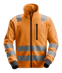 Snickers 8036 AllroundWork, High-Vis Fleece Jack met rits Klasse 2/3* (EN 20471)