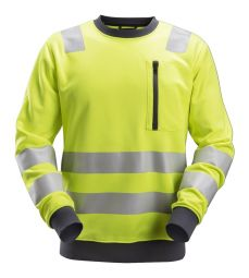 Snickers 8037 AllroundWork, High-Vis Sweatshirt KL2/KL3