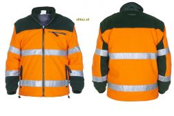 Fleece Jack EN471 Fulham Oranje/Groen