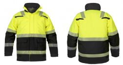 High Vis Parka Utah Waterproof EN20471
