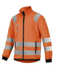 Snickers  8063 High Visibility Micro Fleece Jack, Klasse 3