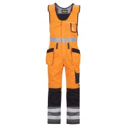 Snickers Bodybroek 0213 + holsterzakken High Vis,Klasse 2