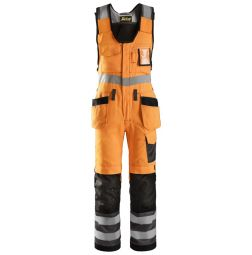 Snickers Bodybroek 0213 + holsterzakken High Vis Klasse 2