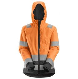 Snickers 1347 AllroundWork, High-Vis Waterproof Shell Damesjack Klasse 2/3