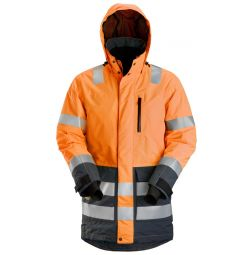 Snickers 1830 High Vis Waterproof Parka Klasse 3