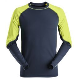 Snickers 2405 Neon T-shirt, long sleeves