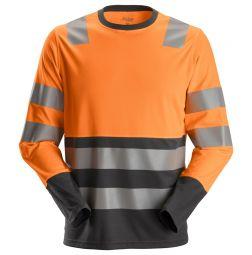 Snickers 2433 AW High-Vis T-Shirt lange mouwen Klasse 2