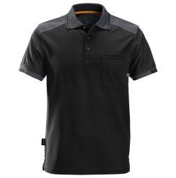 Snickers 2701 AllroundWork, 37.5 verstevigde Polo Shirt Zwart/grijs