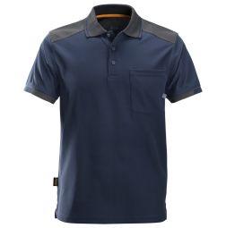 Snickers 2701 AllroundWork, 37.5 verstevigde Polo Shirt D.Blauw/grijs