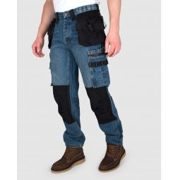 Dunderdon Denim Werkbroek P12 Stonewashed