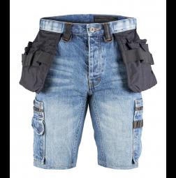 Dunderdon P55S Denim Shorts Stonewashed