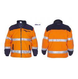 Fleece Jack EN471 Biocoulor Feldkirchen Oranje- en Geel/Marine