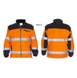 Fleece Jack EN471 Freiburg Oranje/Zwart