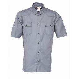 Overhemd korte mouw 65%katoen/35%polyester 1654