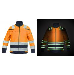 High Vis Softshell Jack Ingen Glow in the dark EN20471