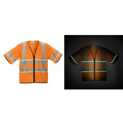 High Vis Veiligheidsvest Glow in the dark EN20471
