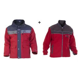 Hydrowear Parka Kiel Red/Grey + Fleece Jack