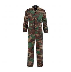 Camouflage overall poyester / katoen