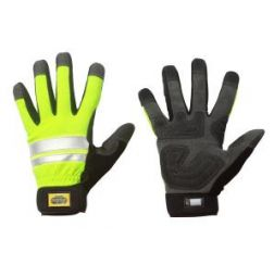 Craftsmen High Vis Glove, Full Grip 9505