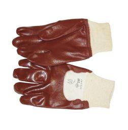 Werkhandschoenen PVC EN 388 CE CAT:2. Gesloten rug.