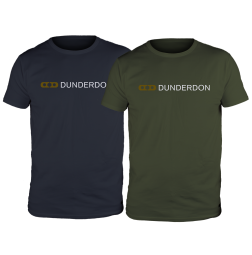 DUNDERDON T4 T-Shirt met logo, Two Pack